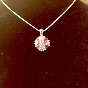 Jewelry - BASEBALL ⚾️ PENDANT & NECKLACE STERLING SILVER NWT